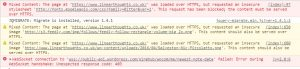 not fully secure - details of insecure links (in chrome)