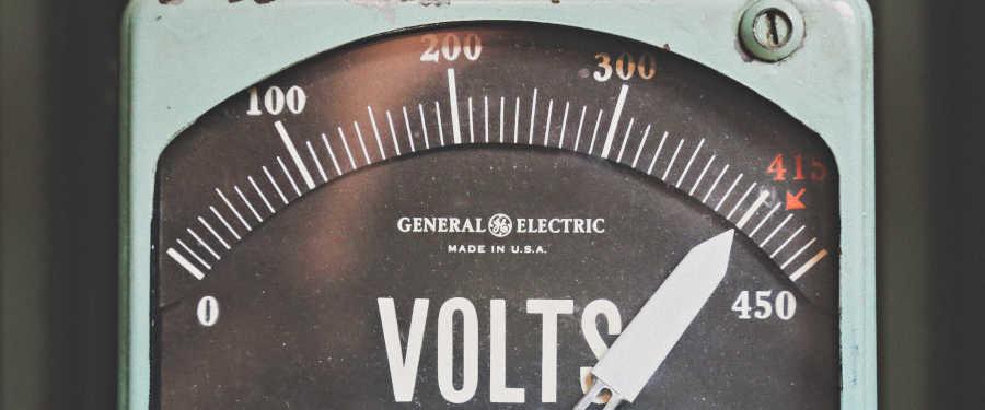 US voltage meter