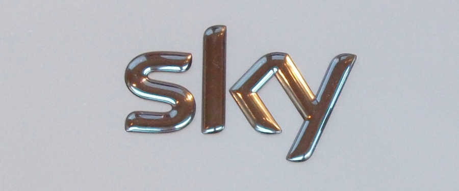 sky logo on the side of a sky hub router